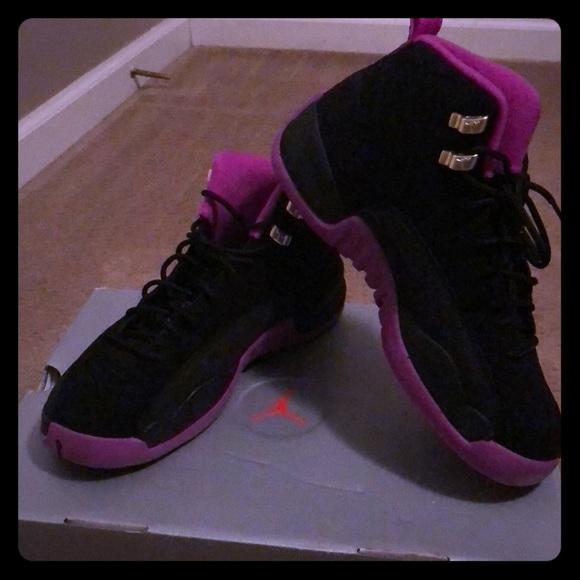 a8691dfdad6 Jordan Shoes | 12s Purple And Black Suede | Poshmark